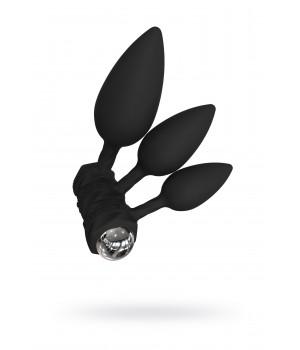 Набор анальных плагов Bathmate Anal Training Plugs VIBE, силикон, чёрный