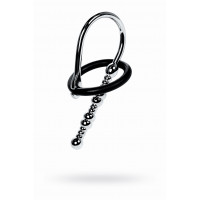 Уретральный плаг-бусины TOYFA Metal  с мягким фиксириущим кольцом, серебристый