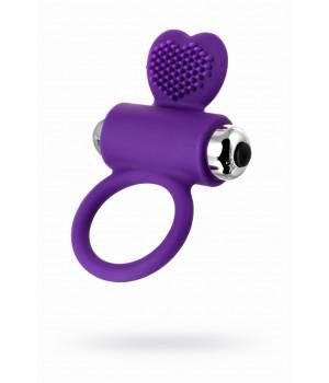 Виброкольцо с ресничками JOS PERY, силикон, фиолетовое, 9 см