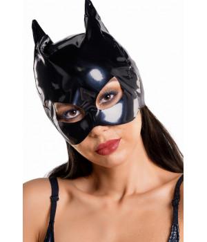 Маска кошки Glossy из материала Wetlook, черный, OS