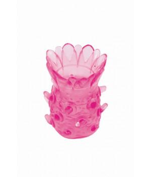 Насадка рельефная TOYFA,  TPE, розовый, 5 см