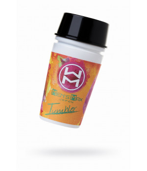 Мастурбатор нереалистичный, Tumbler Splashl, MensMax, TPE, белый, 16.3 см