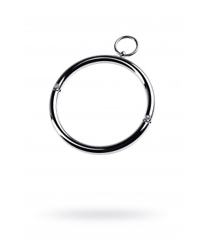 ошейник металлический с кольцом маленький,TOYFA Metal,серебр.