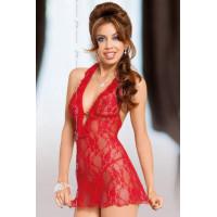 Carmen - Ночная сорочка и стринги красные-S/M
