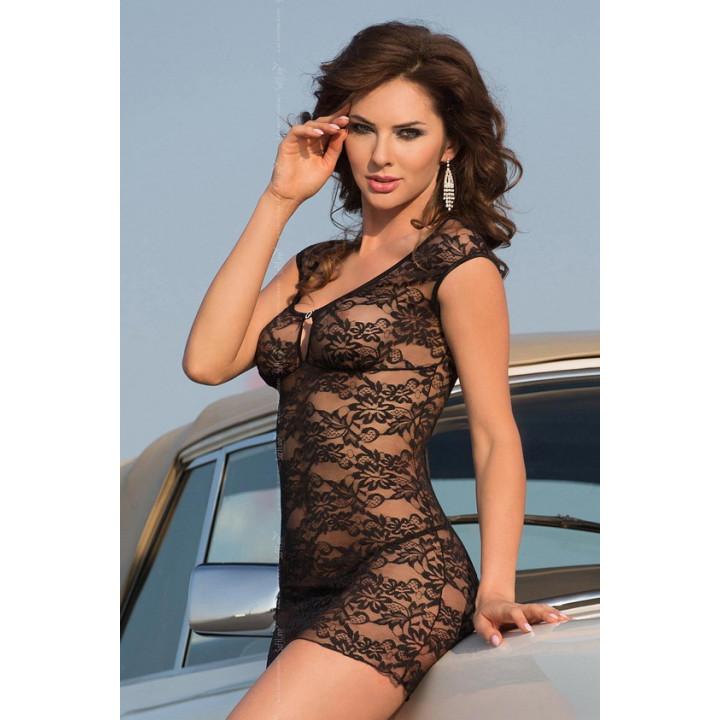 Ночная сорочка SoftLine Collection Linley, черный, S/M