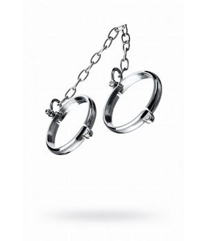 Наручники металлические с цепочкой маленькие, TOYFA Metal,серебр.