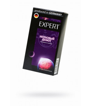 Презервативы Expert ''Неоновый дебют'' №8, светящиеся в темноте, 8шт