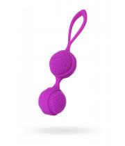 Вагинальные шарики с ресничками JOS NUBY, силикон, фиолетовый, 3,8 см