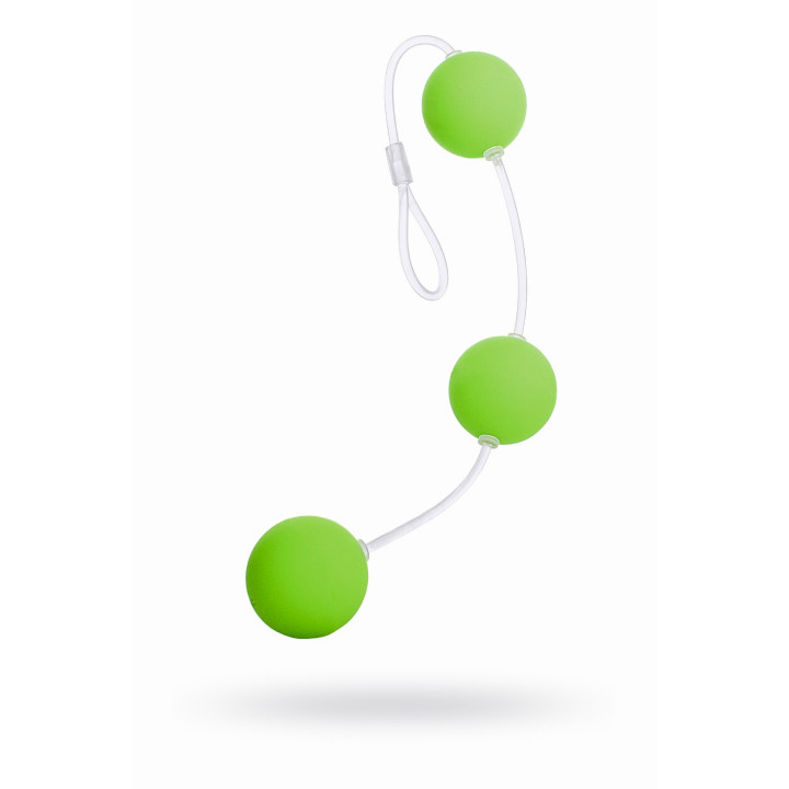 Анальные шарики Sexus Funny Five, ABS пластик, зеленые, 19,5 см