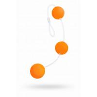 Анальные шарики Sexus Funny Five, ABS пластик, оранжевые, 19,5 см