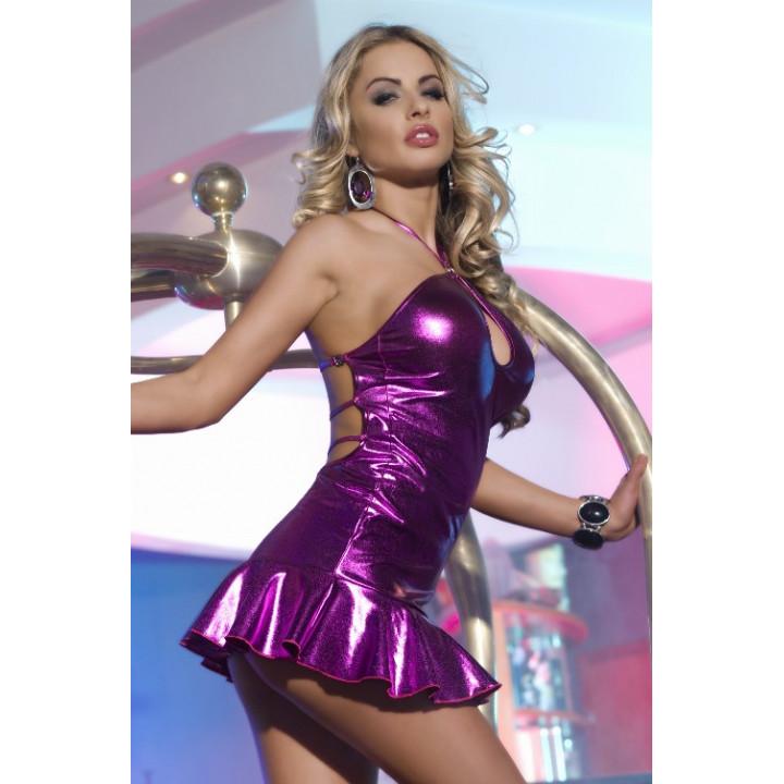 Платье с открытой спиной фиолетовое-OS