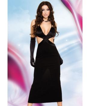 Daisy - Длинное платье черное-L
