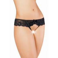 Эротические трусики Erolanta Lingerie Collection кружевные черные (42-44)