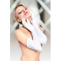 Перчатки длинные белые-S/L