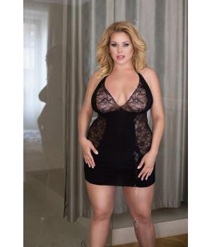 Ночная сорочка SoftLine Collection Sophie, черная-XL