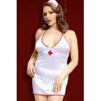 Julie - Костюм медсестры белый-XXL