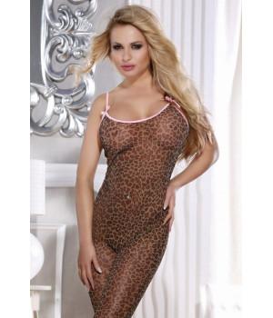 Костюм-сетка Candy Girl леопардовый-OS