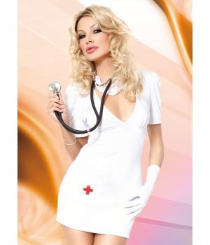 Doctor - Костюм врача (платье и маска) белый-M/L