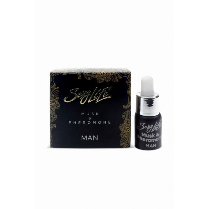 Духи с феромонами Sexy Life мужские, Musk&Pheromone 5 мл