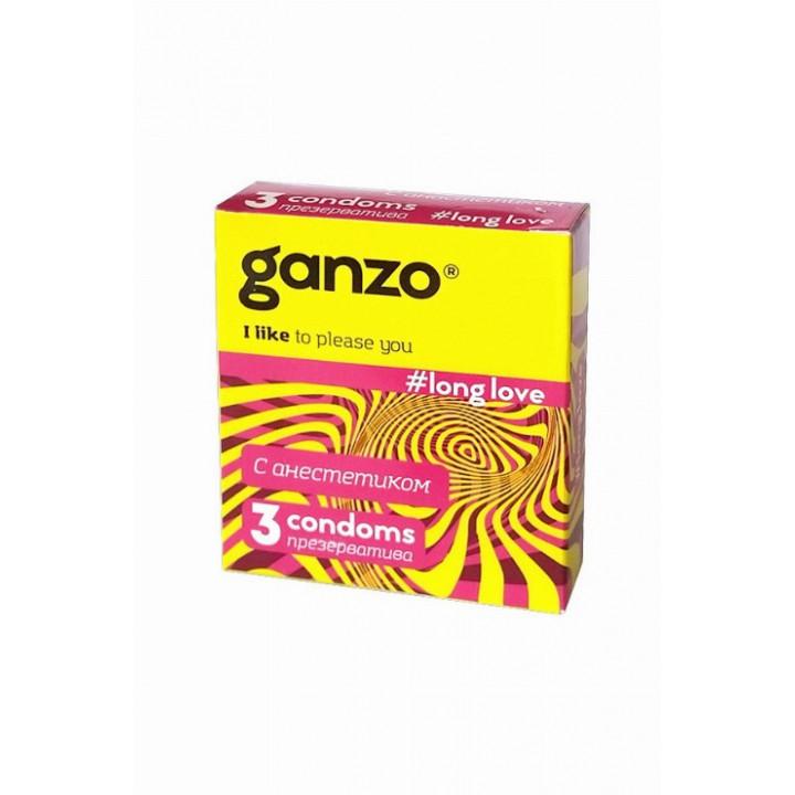 Презервативы Ganzo Long Love № 3 для продления полового акта ШТ