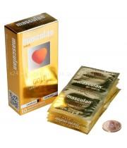 Презервативы Masculan 4 Ultra , 10шт Золотого цвета ШТ