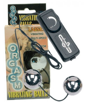 Вагинальные шарики Dream Toys с вибрацией, серебристые, ?3,5 см