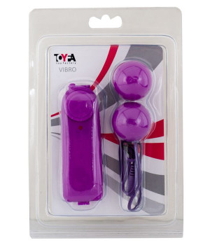 Вагинальные шарики TOYFA с вибрацией, ABS пластик, фиолетовые, ?3 см
