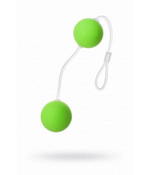 Вагинальные шарики Sexus Funny Five, ABS пластик, зелёные, ?3 см