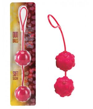 Вагинальные шарики Dream Toys с дополнительной стимуляцией, красные, ?3,5 см