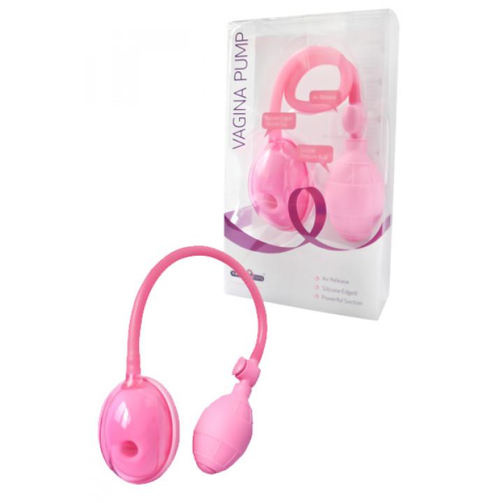 Вакуумная помпа Dream Toys для стимуляции вагины, розовая