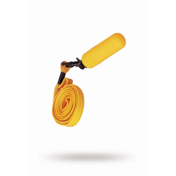Вибратор-мини с ремешком на шею 6см оранжевый